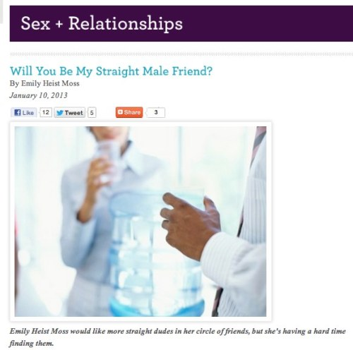 Will You Be My Straight Male Friend?
