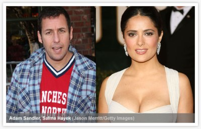 Adam Sandler and Salma Hayek (Grown Ups)