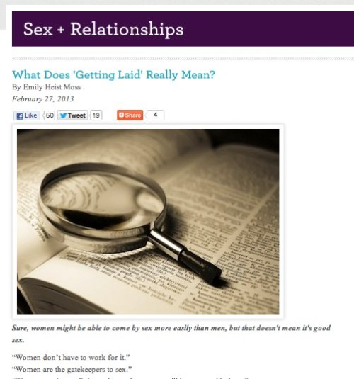 What Does _Getting Laid_ Really Mean?