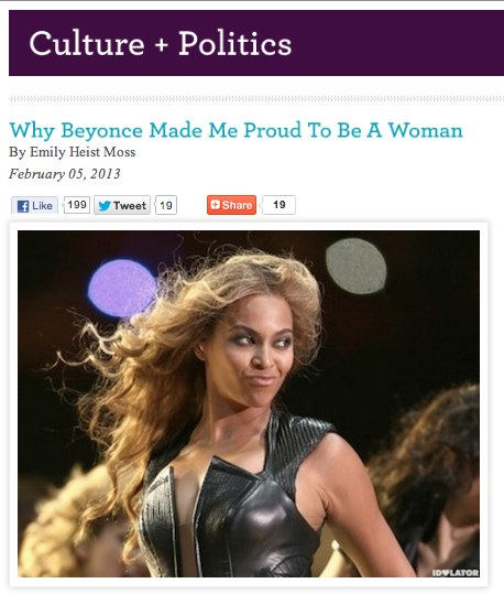Why Beyonce Made Me Proud To Be A Woman
